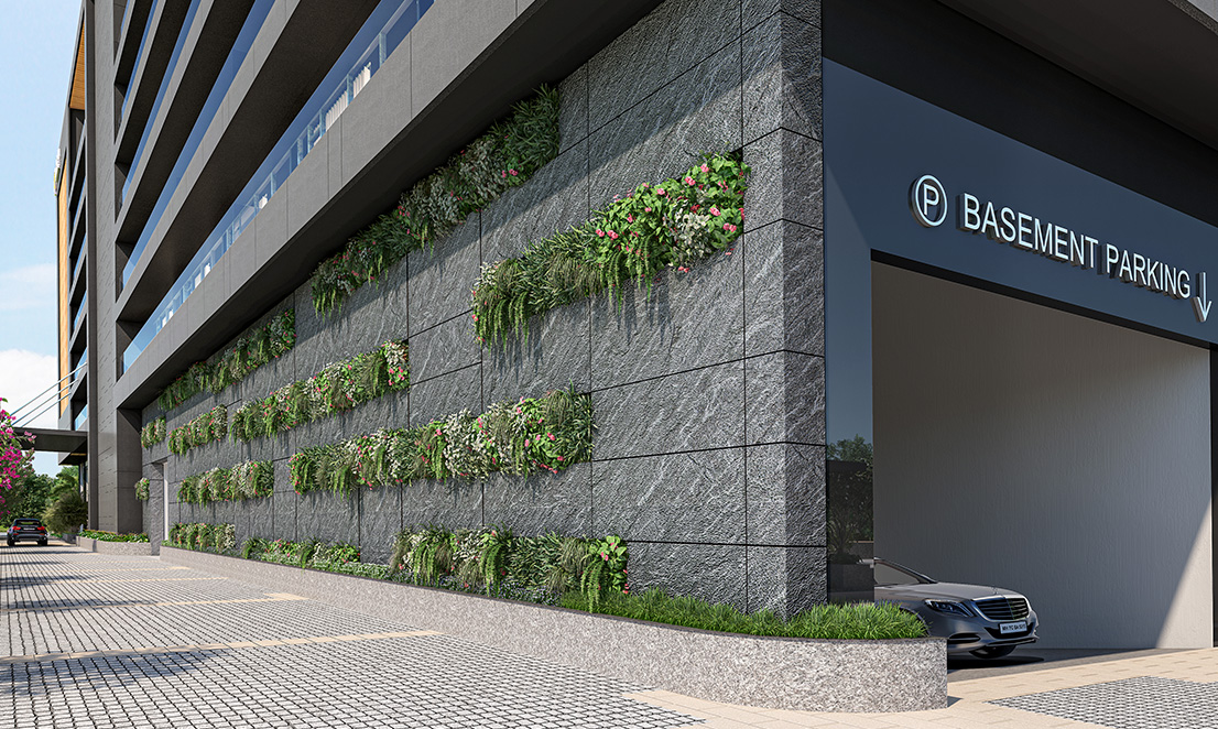 Gagan Arbor Court Green Wall Parking